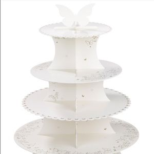 NWT Talking Tables 4 Tier Butterfly Cupcake Stand